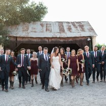 Vintage Ranch Burgundy Wedding