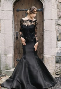 Trend We Love Black Wedding Gowns