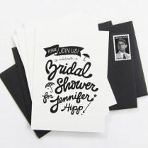 Black White Bridal Shower Invitations
