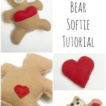 Valentine's Bear Softie {tutorial Free Pattern}