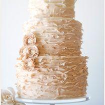 Vintage Ruffled Blush Wedding Cake Picture