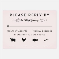 Wedding Rsvp Card Wording With Meal Choice 40 Elegant Wedding