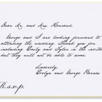 Formal Response Card Etiquette