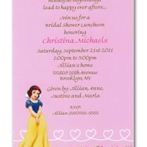 Disney's Snow White Bridal Shower Invitation