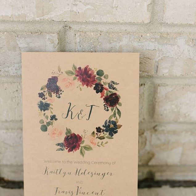 Kaitlynn Travis's Wedding Invitation Is A Simple Rustic