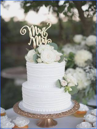 Simple 2 Tier Wedding Cakes Pictures