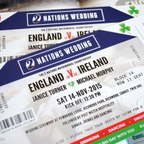 Rugby Ticket Wedding Invitations