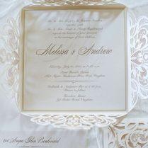Lasercut Wedding Invitations For This Hazelton Manor Wedding