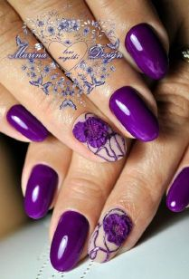 45 Purple Nail Art Designs
