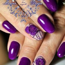 45 Purple Nail Art Designs