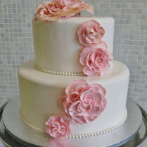 2 Tier Wedding Cake With Floral Design