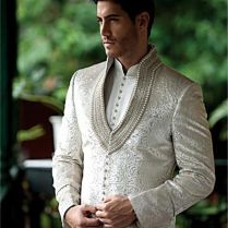 Men New Fashion Designer Wedding Groom Indowestern Sherwani Suit