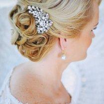 Crystal Bridal Hair Comb, Swarovski Pearl Hair Comb, Vintage Style
