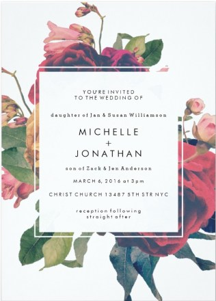 Top Wedding Related Invitation Designs January Through March