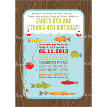 Fishing Printable Birthday Party Invitation