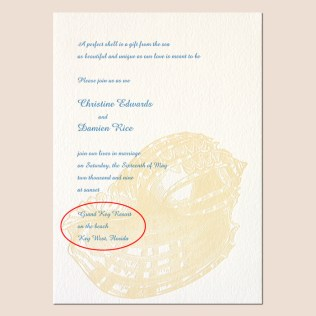 Beach Wedding Dress Code Invitation