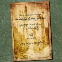 Birthday Invitation For Lord Of The Rings
