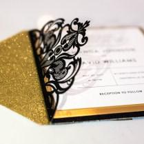 Black And Gold Wedding Invitations Elegant Gold And Black Foil