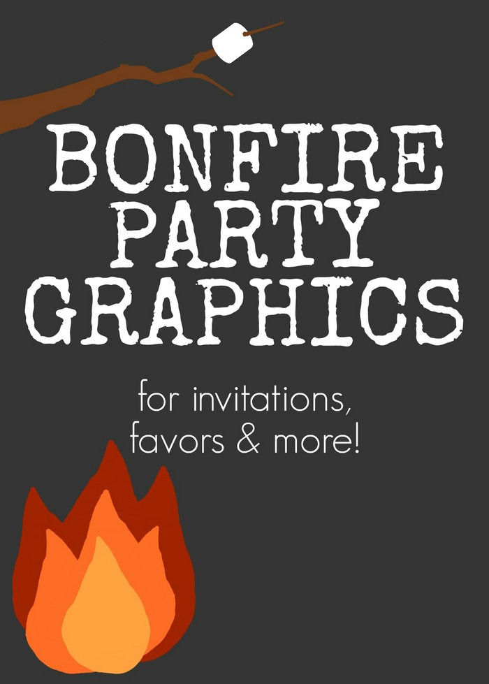 Bonfire Party Invitations Free Printable