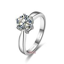 Classic Design 6 Prong Setting 3 Carat Nscd Simulated Diamond