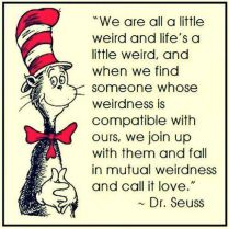 Dr Seuss Weird Quote Wedding Invitation
