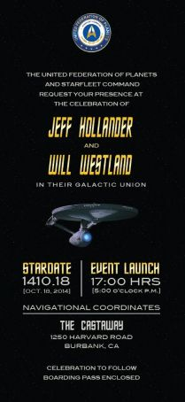 Star Trek Wedding Invitation, Boarding Pass And Rsvp Coming Soon