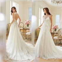 Free Shipping 2017 American Wedding Dress New Trade Shoulders