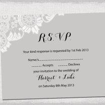 Rsvp Wedding Card