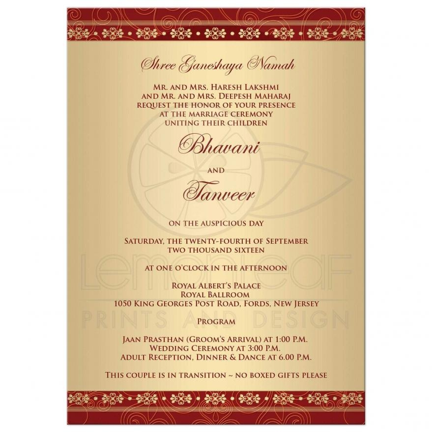 Free Online Indian Wedding Invitation Website: Indian Wedding Invitation Wording Samples