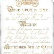 Inspirational Princess Bridal Shower Invitations 24 For Invitation