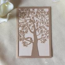 Laser Cut Wed Invitation Embellishment Tree Design Elegant Wed
