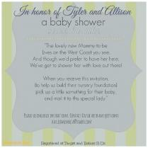 Long Distance Baby Shower Invitation Wording
