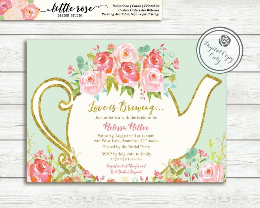 Afternoon Tea Invitation Ideas