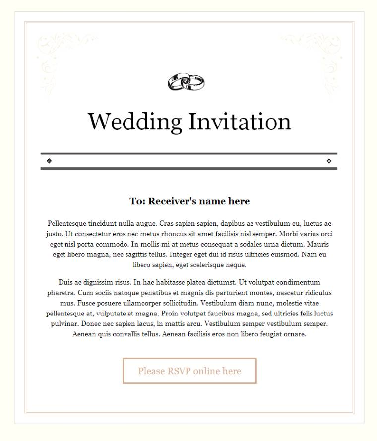 Email Wedding Invitations Free: Wedding Invitation Email For Office