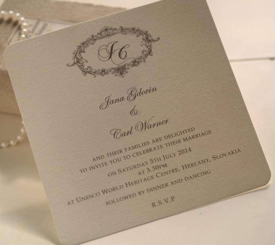 Wedding Invites Personalised: Non Personalised Wedding Invitations