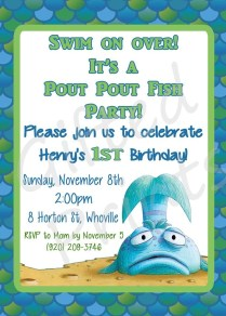 Homemade Fishing Birthday Party Invitations Home Party Theme Ideas