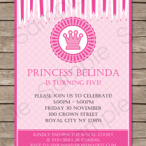 Princess Party Invitations Template