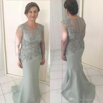 Vintage Long Sleeve Mother Of The Bride Dresses Jewel Neck