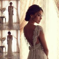 Amazing Anna Campbell Aisling Style Vintage Wedding Dress 2057039