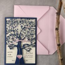Tree Wedding Invitations (20), Rustic Wedding Invitation, Laser