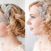 Vintage Bridal Hair Combs, Retro Wedding Hairstyle