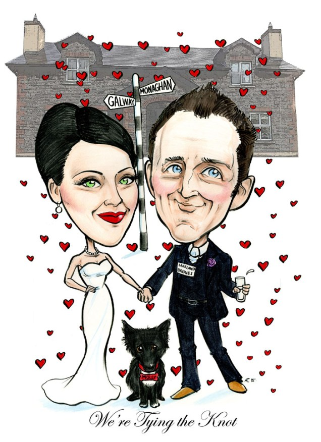 Wedding Invitation Artwork! – Caricatures Ireland By Allan Cavanagh