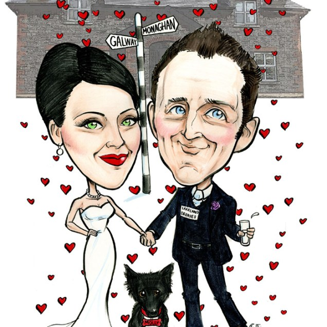 Wedding Invitation Artwork! – Caricatures Ireland By Allan Cavanagh