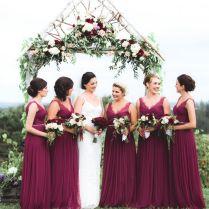 Wine Colored Wedding Dresses