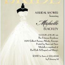 Exquisite Bride 5x7 Bridal Shower Invitations