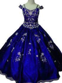 Ebay Sponsored Custom Royal Blue Princesses Dress Beads Flower