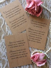 25 50 Wedding Gift Money Poem Small Cards Asking For Money Cash