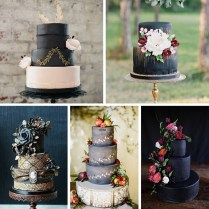 20 Breathtaking Black Wedding Cakes