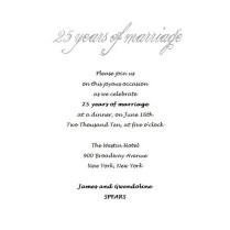 25th Wedding Anniversary Invitations 4 Wording