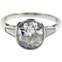 Antique Diamonds In Art Deco Engagement Ring Style Setting, 1 60